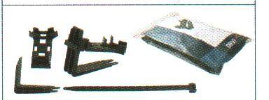 DEVIclip Guardhook Крепление пластиковое для монтажа кабеля на поверхности и на краю кровли.