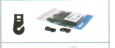 DEVIclip Roofhook Крепление пластиковое для монтажа кабеля на поверхность кровли (25 шт.)