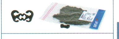 DEVIdrain Крепление пластиковое для монтажа кабеля на цепь (25 шт. )
