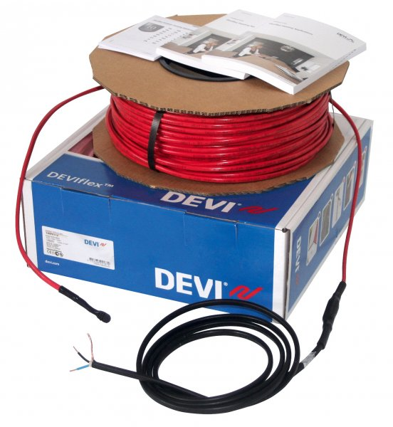 Фото  1 Греющий двухжильный кабель DEVIflex 18T 2135Вт, 118,0м, DEVI (Дания) 1851275