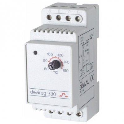 Фото  1 Терморегулятор электронный DEVIreg 330 на шину DIN, DEVI 1907958