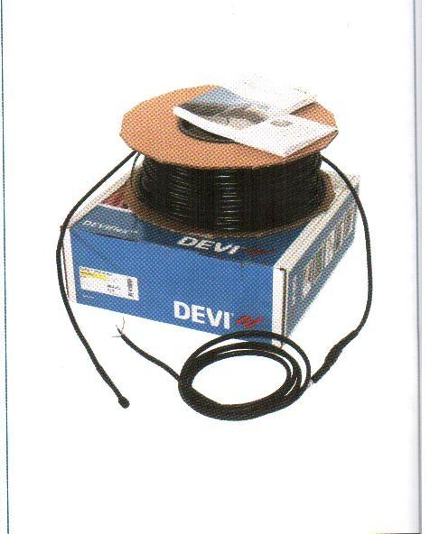 DEVIsnowDTCE-30 на 230 B. Нагревательный кабель двухжильный для крыш, желобов и водостоков; длина 27 м