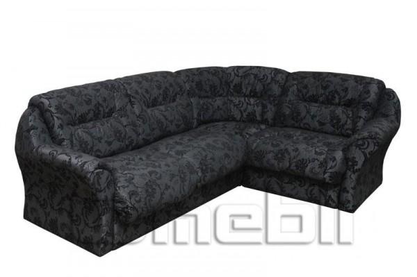 Диана Катунь Угловой диван ткань амазон блек Код A101165