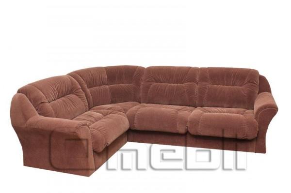 Диана Катунь Угловой диван ткань фабио шоколад Код A101166