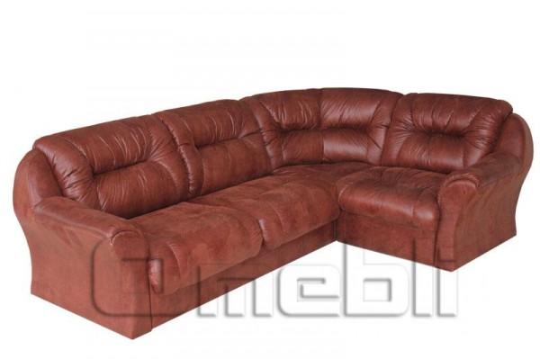 Диана Катунь Угловой диван ткань омега шоколад Код A101167