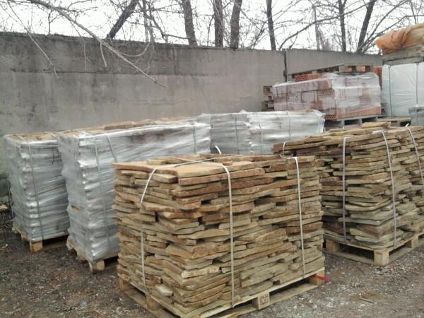 Дикий камень песчаник (Красный Луч)со склада в Донецке (Теремок). Подробнее - на сайте teremok. dn. ua