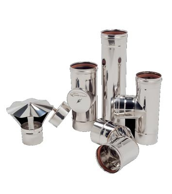 Дымоход одностенный из нержавеющей стали 0,8 мм d=120 мм