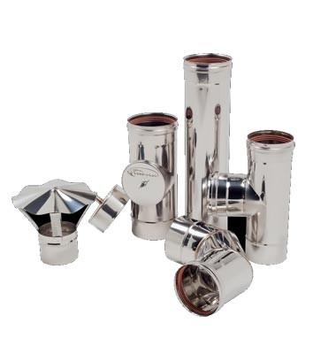 Дымоход одностенный из нержавеющей стали 0,8 мм d=180 мм
