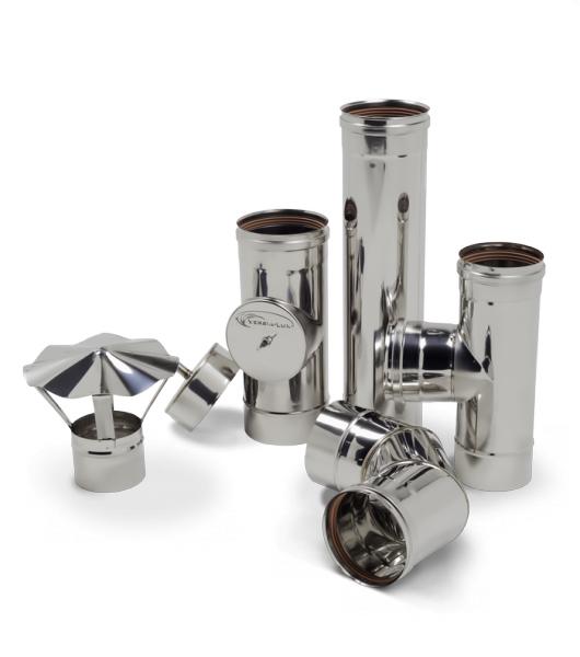 Трубы для дымоходов 1 мм d=100 мм