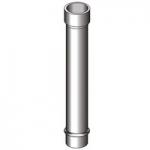 Дымоход труба для камина диам 200мм толщ 1 мм сталь нерж 321