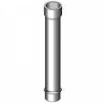 Дымоход труба для камина диам 250мм толщ 1 мм сталь нерж 321