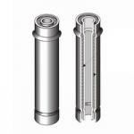 Дымоход труба утепл. н/о для камина диам 200мм толщ 1 мм сталь нерж 409