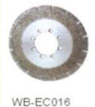 Диск отрезной WB-EC016 с гальванопокрытием для сухой резки, по мрамору