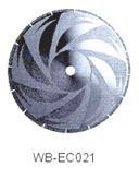 Диск отрезной WB-EC021 с гальванопокрытием для сухой резки, по мрамору