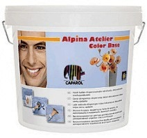Дисперсионная краска для декоративного оформления стен. Alpina Atelier Color Base