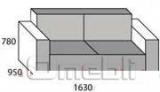 Диван Берлин двойной модуль Ткань Кантри14 Эшли13 A23206