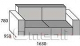 Диван Берлин двойной модуль Ткань Кантри16 Эшли11 A23208