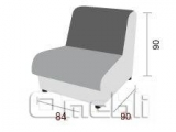 Диван Визит кресло одноместный модуль Неаполь Черный N 20 A31277