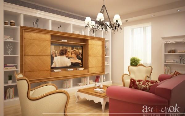 Дизайн гостиной, совмещенной с кухней- столовой