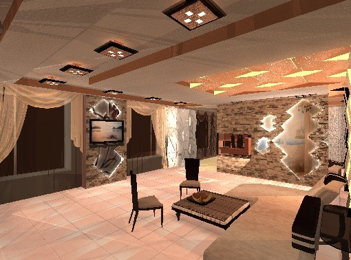 Дизайн гостнной дома
