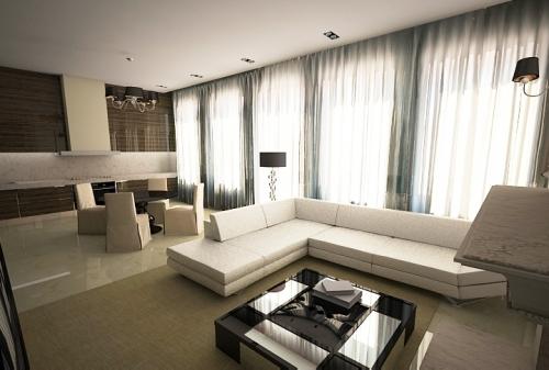 Дизайн интерьера комнаты в Днепропетровске, Киеве, Крыму