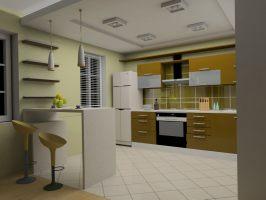дизайн интерьера(кухня)