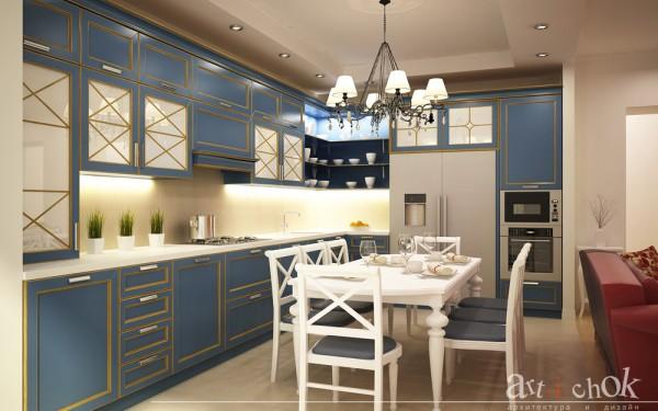 Дизайн кухни - столовой