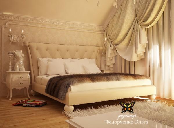 Дизайн спальни в стиле ар-деко.