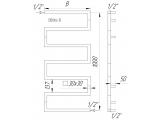 Фото  1 Дизайнерська сушка - радіатор Ultra 6 з нержавіючої сталі / 1000х500. Труба 30х30 2396081