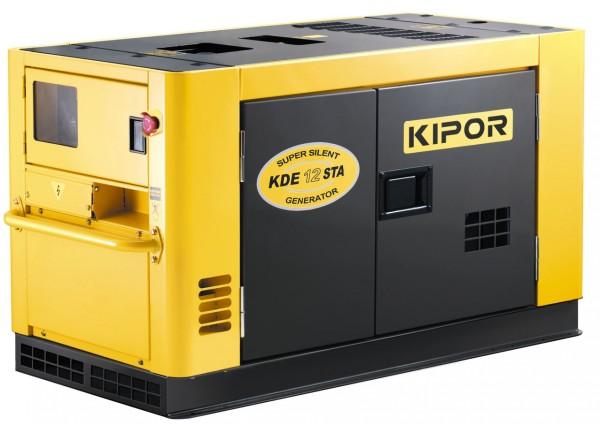 Дизельный генератор Kipor KDE12STA Акция 20л бензина в подарок заправка масла.