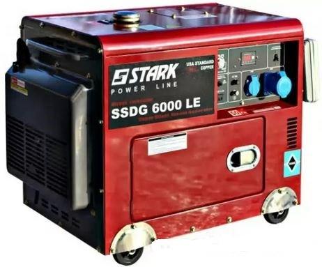 Дизельный генератор Stark SSDG6000LE АКЦИЯ! полный бак дизельного топлива заправка масла доставка бесплатно!!!