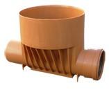 Днище-лоток проходной для канализационных ПВХ колодцев DN 425 x 200 мм