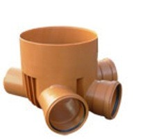 Днище-лоток сборный для канализационных ПВХ колодцев DN 315 x 160 мм