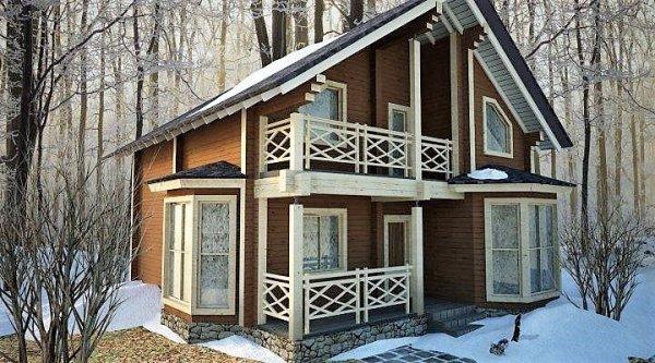 Фото 1 Дом двухэтажный, деревянный из профилированного бруса 12х8 м 335567