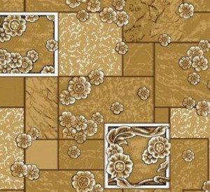 Фото  1 Домашний бежевый ковролин Камила войлочный цветной 2000 2134639