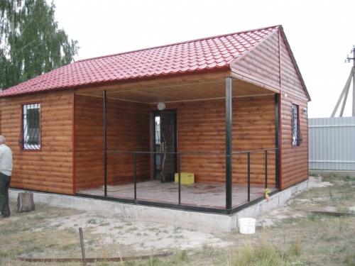 Домик блок хаус 7х6м