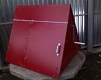 Домик на колодец треугольный из металлопрофиля