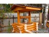 Фото  1 Будиночки для колодязів з дерева (деревяні): з деревяного зрубу, з блок-хауса, з дубової вагонки 2083317