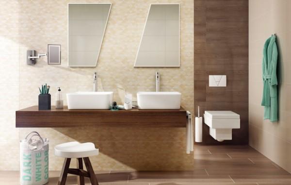плитка керамическая Ceramika Paradyz Domus Beige 30 x 60, Domus Brown 30 x 60