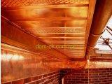 Фото  1 Доска для подшивки кровли цвет- Темное дерево 2261139