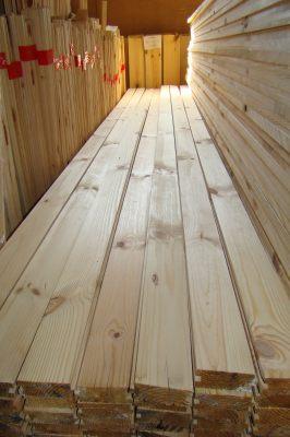Доска для пола, сосна, 32мм х 130мм х 4м, цена за метр квадратный