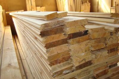 Доска для пола, сосна, 32мм х 140мм х 4.5м, цена за метр квадратный
