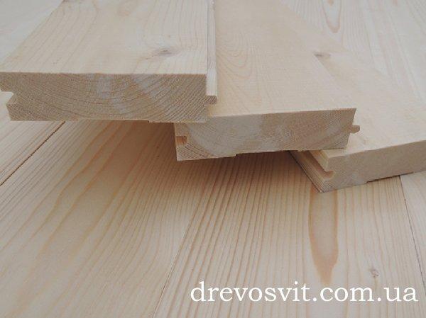 Фото  1 Дошка для підлоги, виготовлена з деревини сосни, шпунтована. Сорти: 1-й та 2-й з розмірами 130*35*4000мм. 1973821