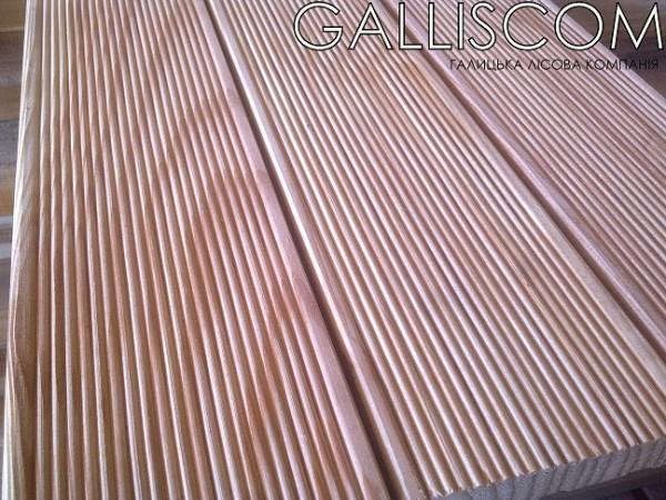 Доска террасная Лиственница размеры : 25*120*4000 мм профиль Анти-слип