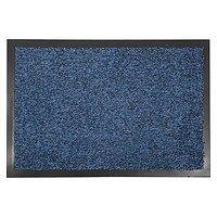 Фото  1 Придверный грязезащитный коврик на резиновой основе с окантовкой Condor Entree 90х150, Синий 2134429