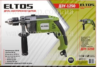 Дрель электрическая ударная ELTOS ДЭУ-1250