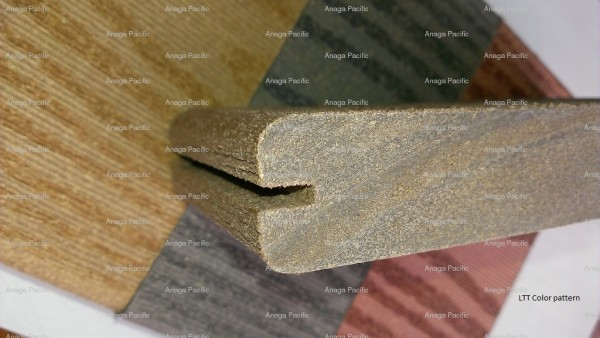 Древесно-композитная полнотелая террасная доска