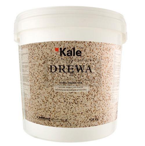 DREWA (Древа) - натуральная мраморная цветная штукатурка крупной фракции (зерно 1,6мм) Расход 4-5 кг/кв. м.