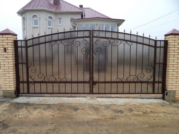 Фото 5 Ворота с элементами ковки 332111