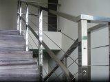 Фото  3 Перила из квадратной нержавеющей трубы с тросами 3436036